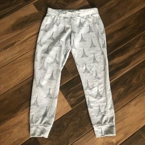 Cynthia Rowley sleepwear Paris joggers sweats